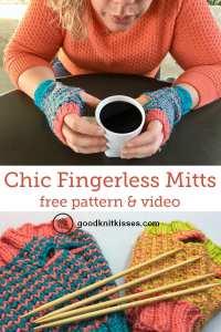 Chic Sheep Fingerless Mitts Pin Image