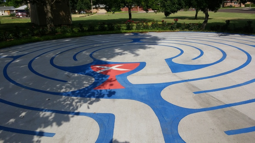 The image of the Memorial labyrinth of Goodland, KS