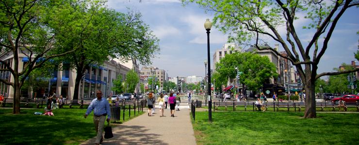 Walking Conn Avenue Washington DC