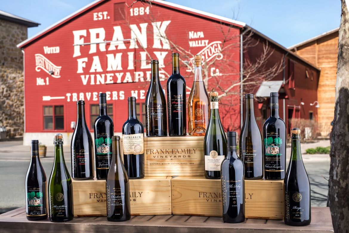 Wines at Frank Family Vineyards