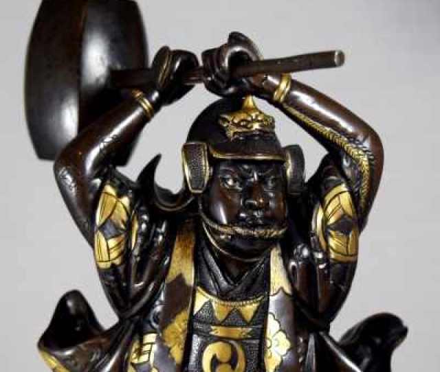 C Japanese Bronze Samurai Valued At