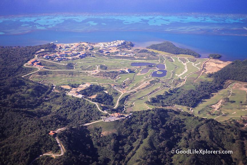 Aerial View of Roatan Honduras
