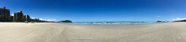Panorama of beach