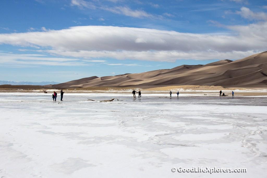 Frozen Creek at Great Sand Dunes National Park