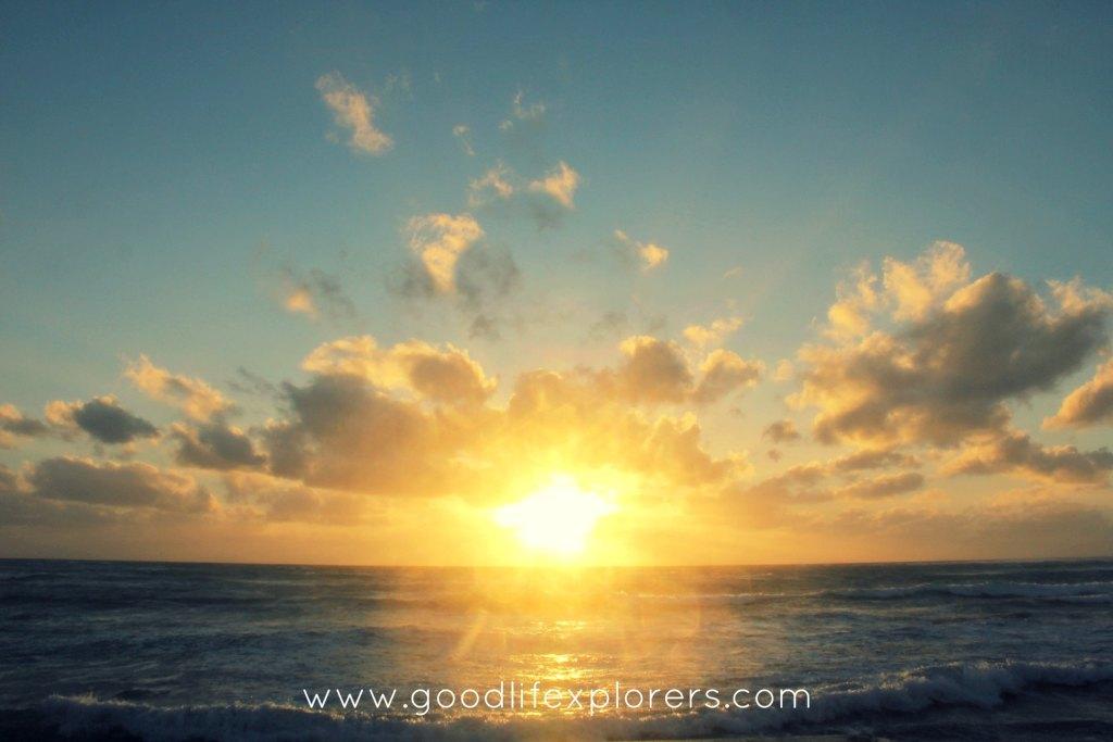 Sunset at Kuhio Beach