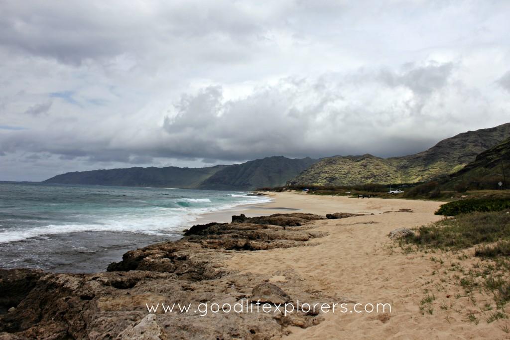 hawaii, oahu, travel,  sunset, beach, east coast, mountains