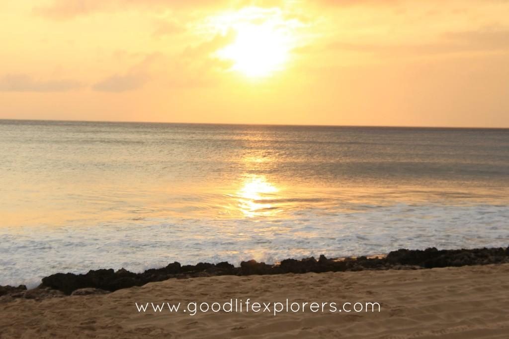 hawaii, oahu, travel, yokahama beach, sunset, beach