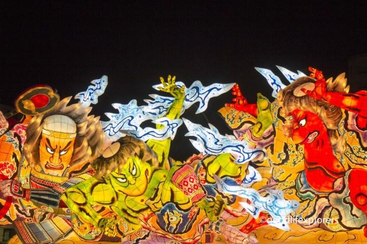 Rice Paper Float in Nebuta Festival Japan