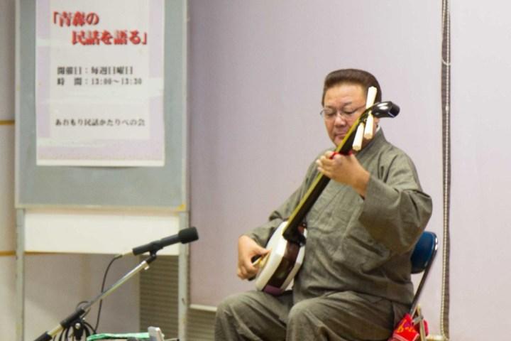 Shamisen performer in Japan