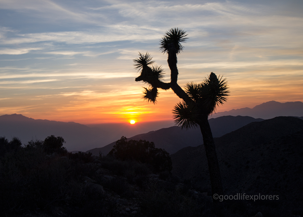 Sunset at Keys Views in Joshua Tree National Park