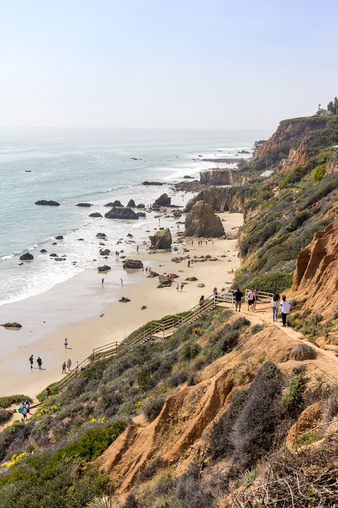 El Matador state park beach seen from above in California