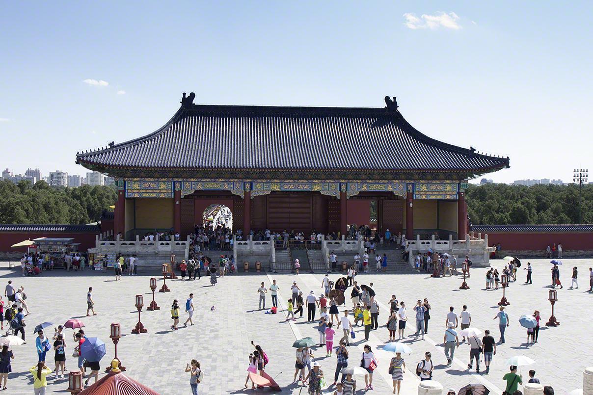 Tourists in Beijing