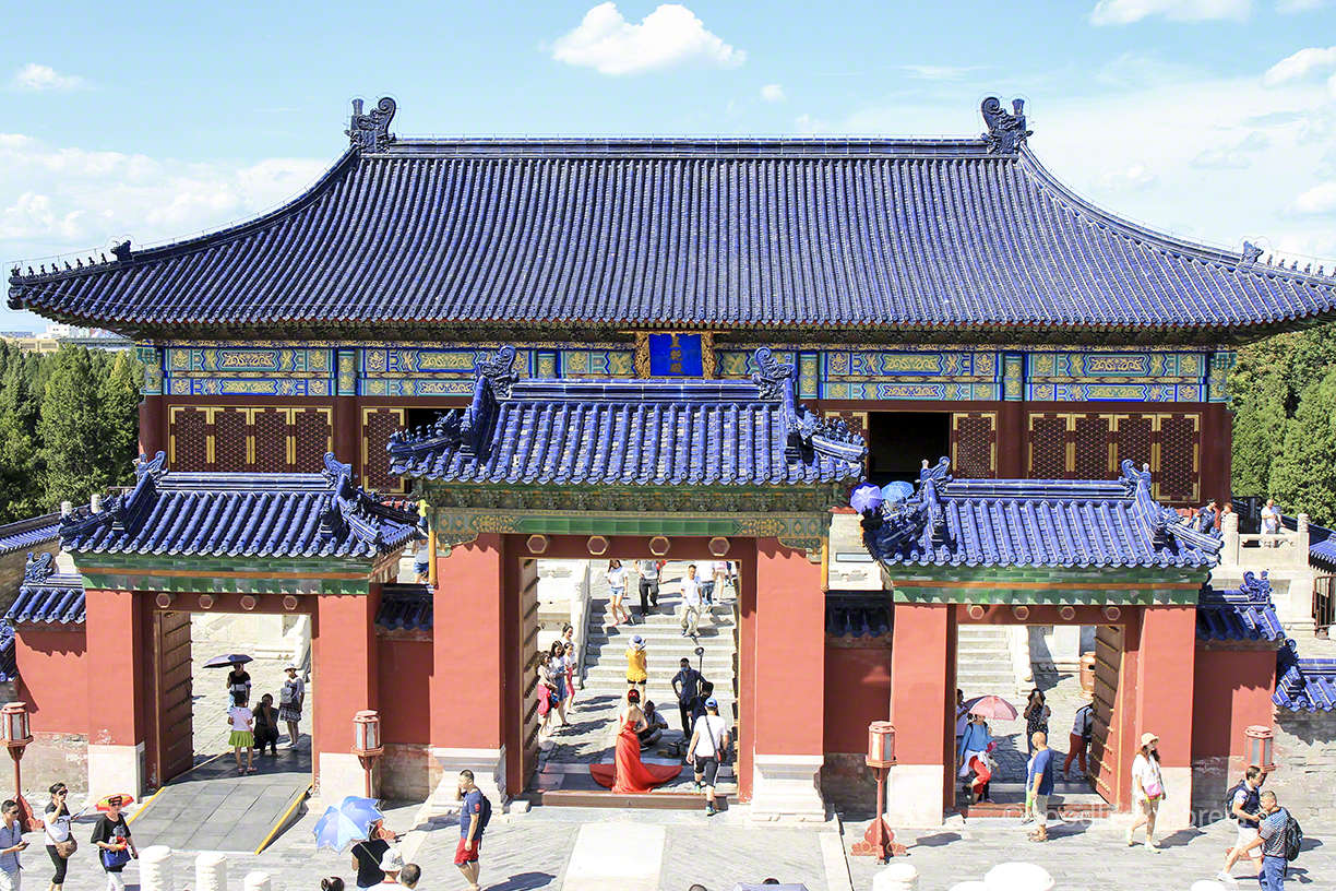 Temple of Heaven gate, Beijing, China