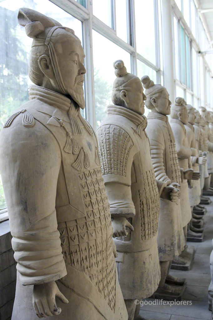 Life size replicas of the Terracotta Warriors in Xian China