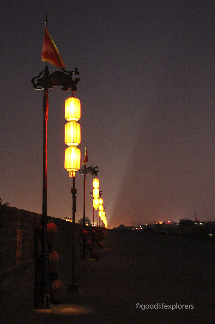 Lanterns at the Ancient City Wall of Xian