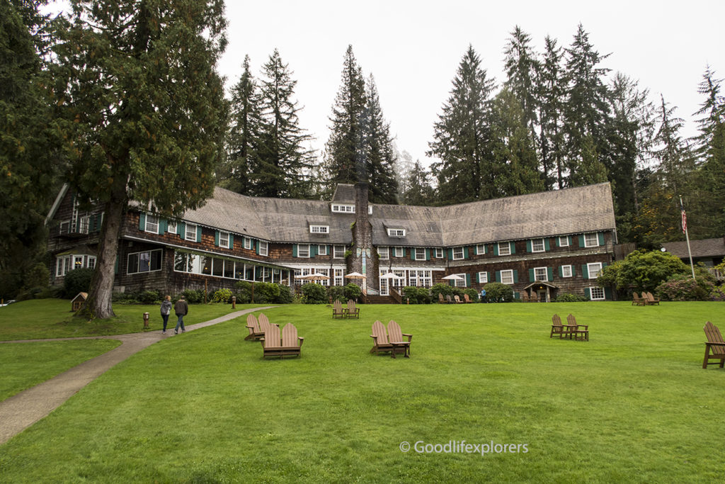 Lake Quinault Lodge exterior in Olympic National Park