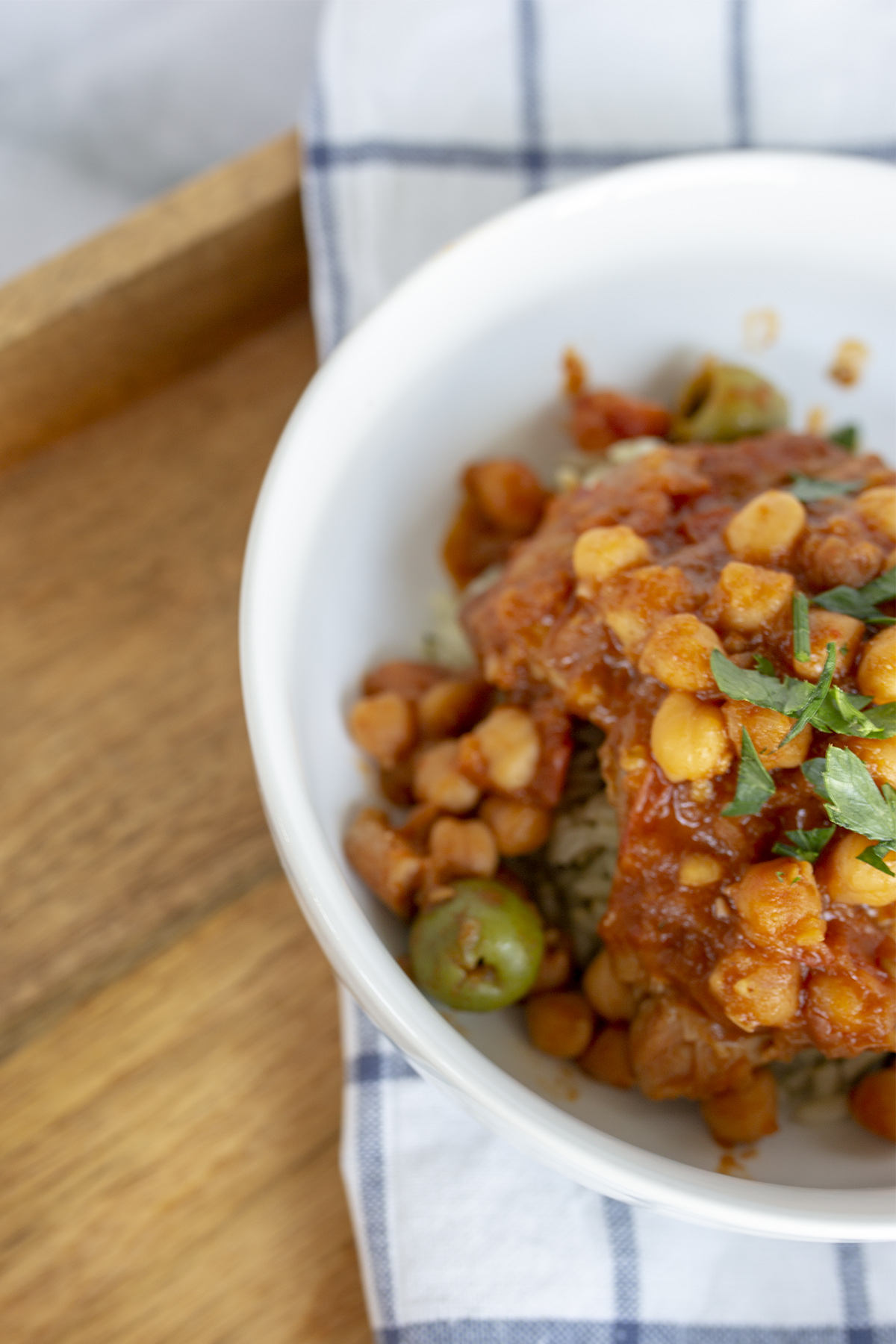 Moroccan chicken with chick peas
