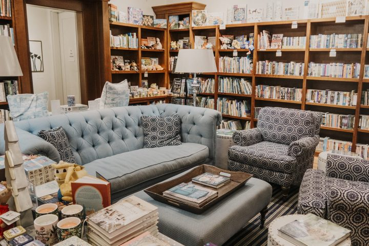 Bookstore interior in Rosemary Beach Florida