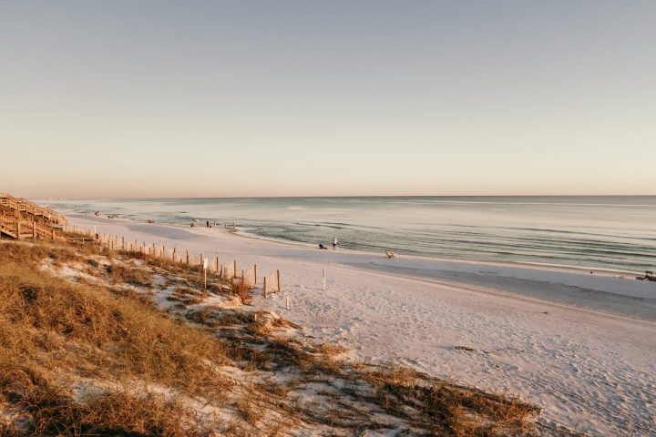 Seagrove Beach in 30A Florida during sunset