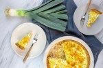 Ham, Leeks and Goat cheese Quiche