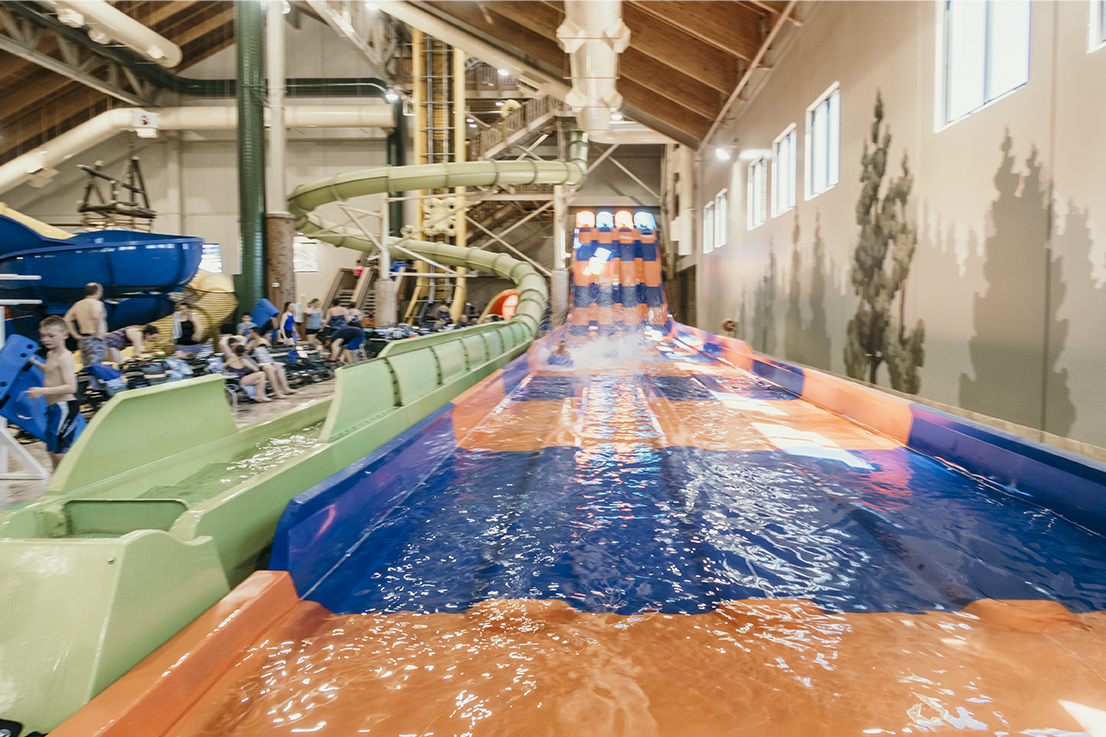 Slides at Great Wolf Lodge