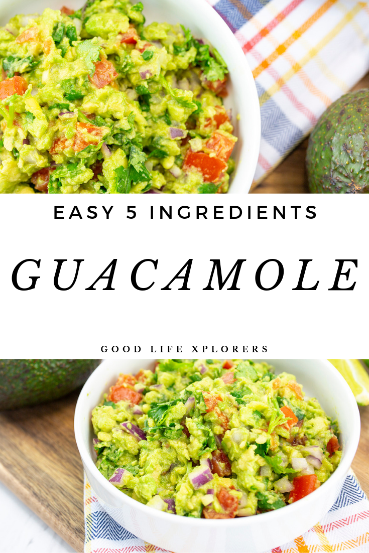 5 ingredients guacamole- easy recipe