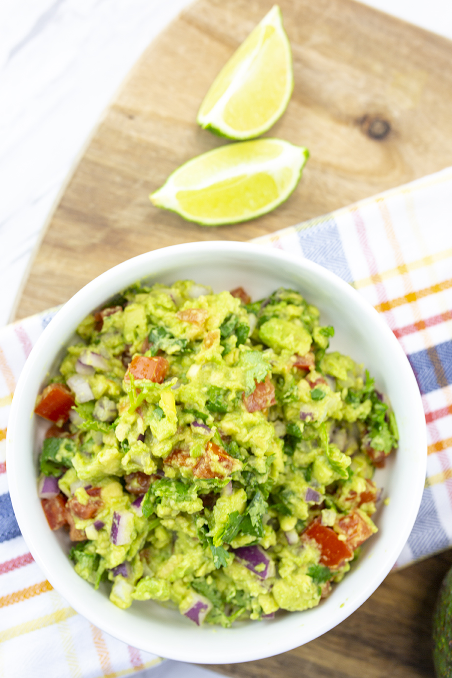 guacamole and limes