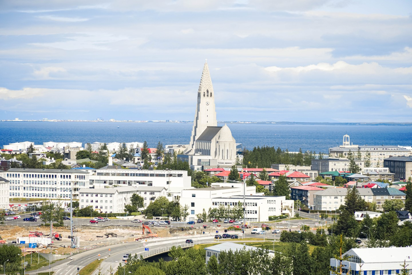 The view of Reykjavik from the top of the Perlan Museum