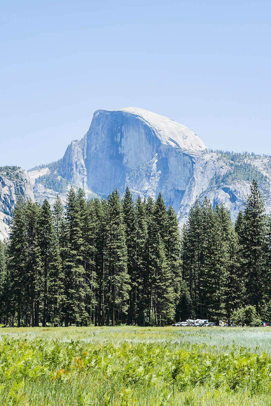 Half Dome from Cooks Meadow Loop Trail in Yosemite Valley
