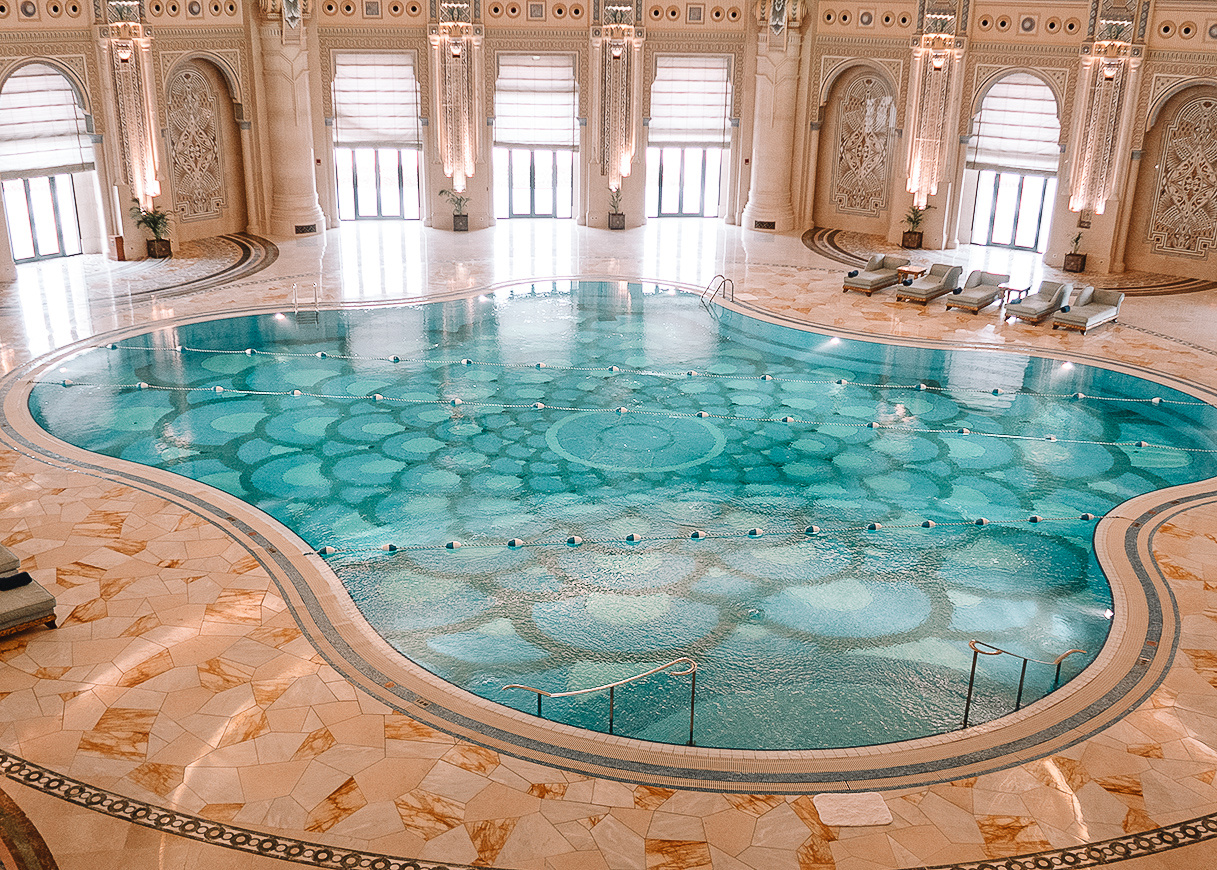 Swimming pool at the Ritz Carlton in Riyadh Saudi Arabia