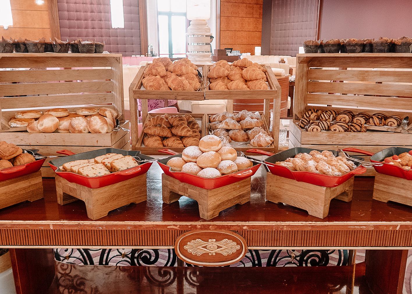 Pastries at Ritz Carlton Saudi Arabia