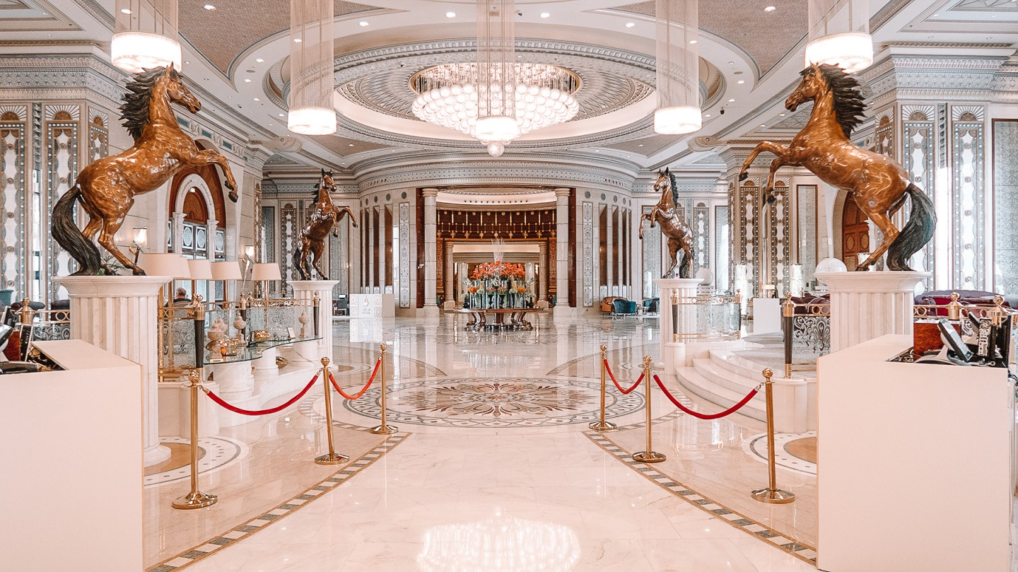 Entrance at Ritz Carlton of Riyadh Saudi Arabia