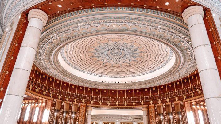 Details on the ceiling at the Ritz Carlton in Riyadh Saudi Arabia