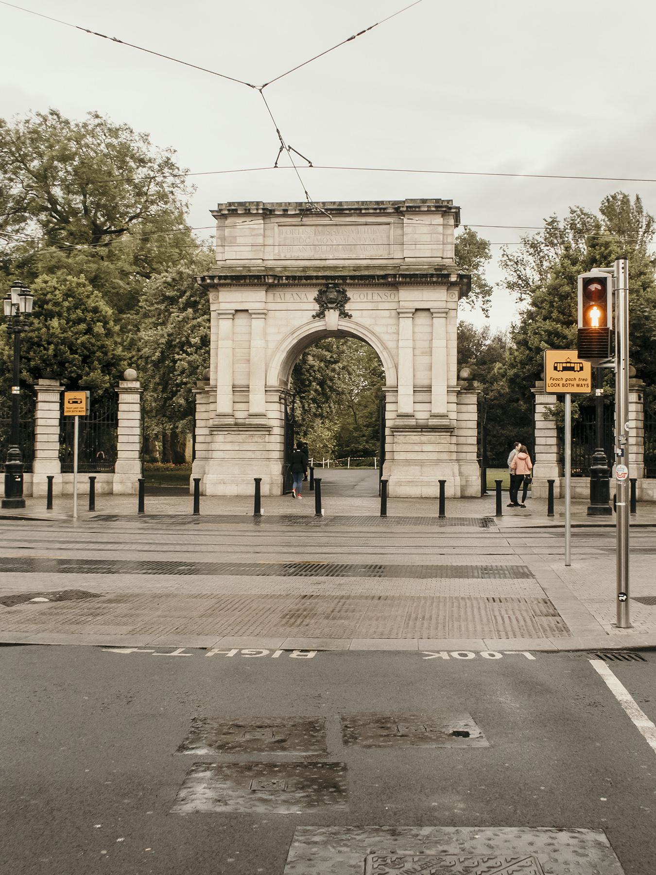 St Stephen's Green Park entrance