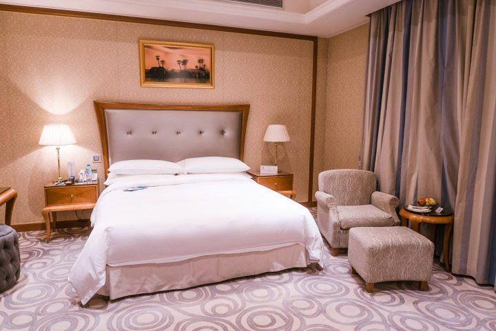 The club level room at Ritz Carlton Saudi Arabia