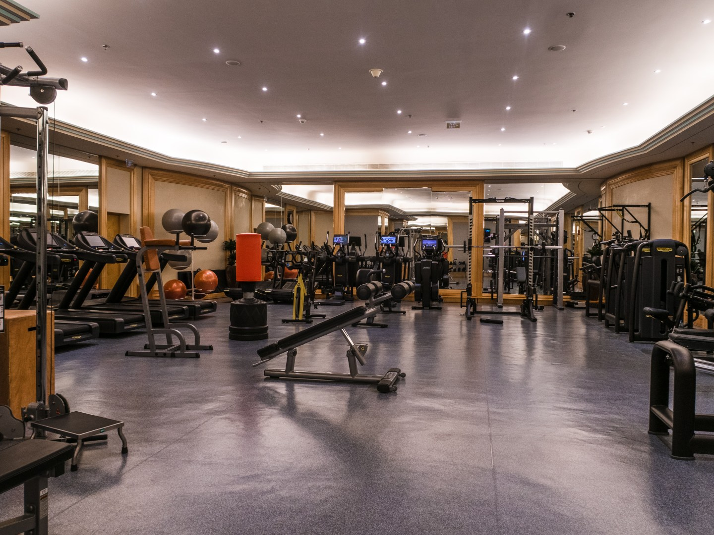 Gym at Ritz Carlton in Riyadh Saudi Arabia