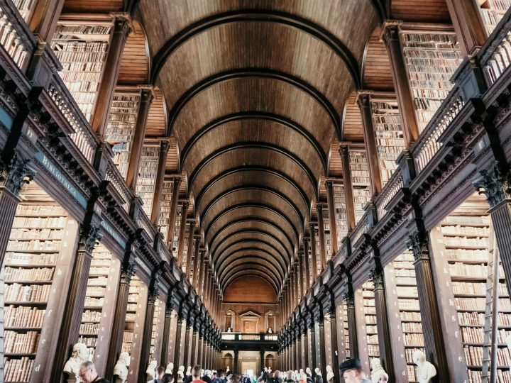 Trinity College Library in Dublin Ireland