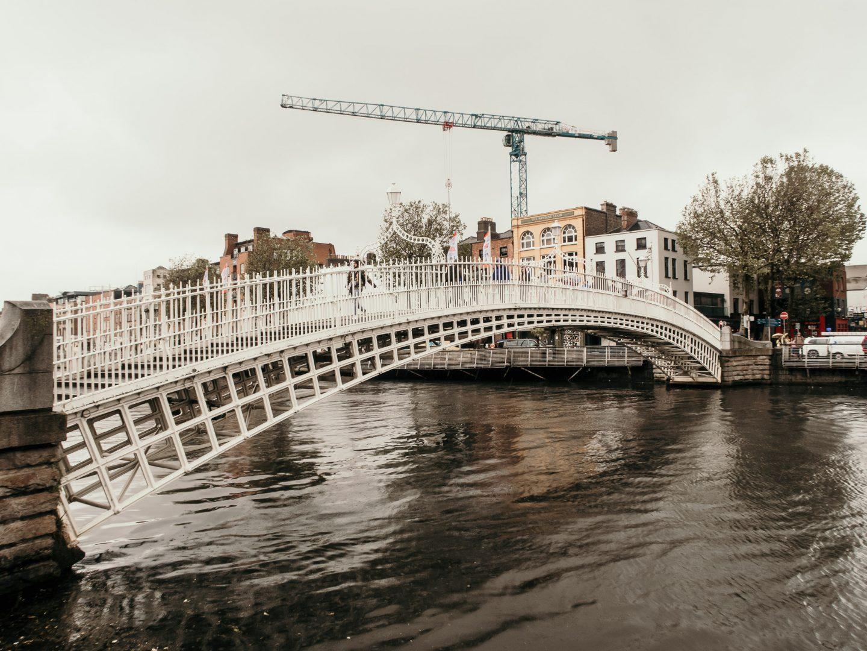 Ha'Penny Bridge in Dublin Ireland