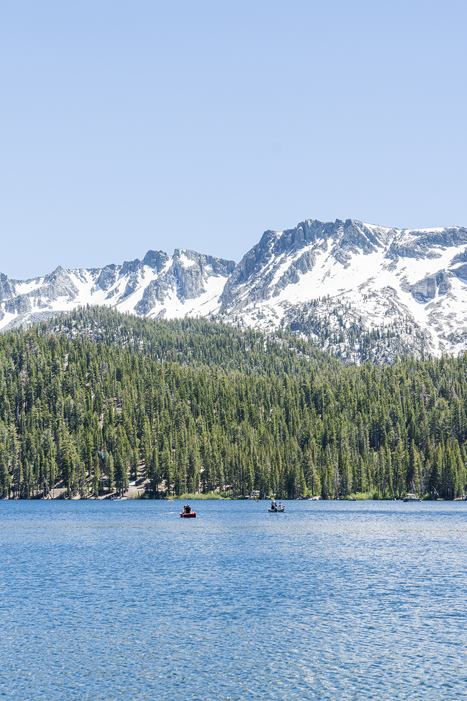Lake Mary in Mammoth Lakes California United States