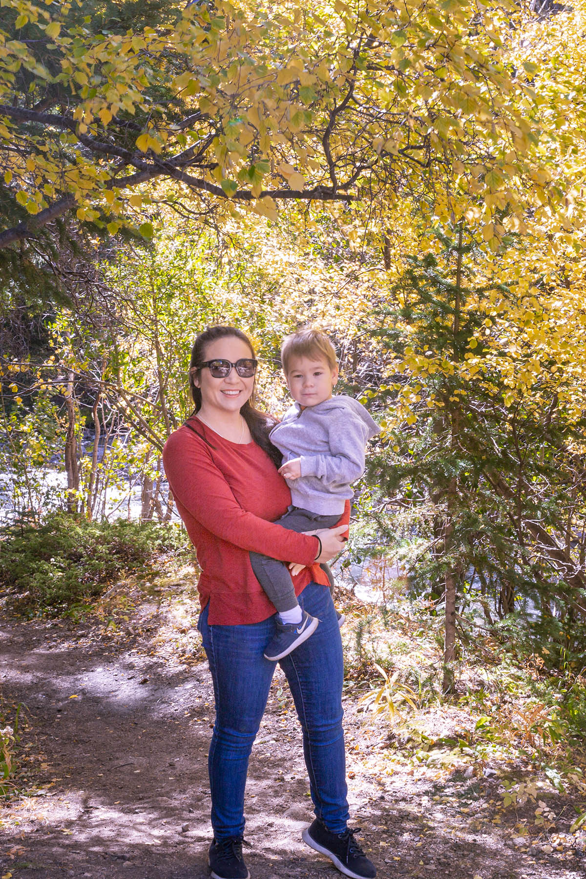 Guanella Pass Colorado Fall Mom and Baby