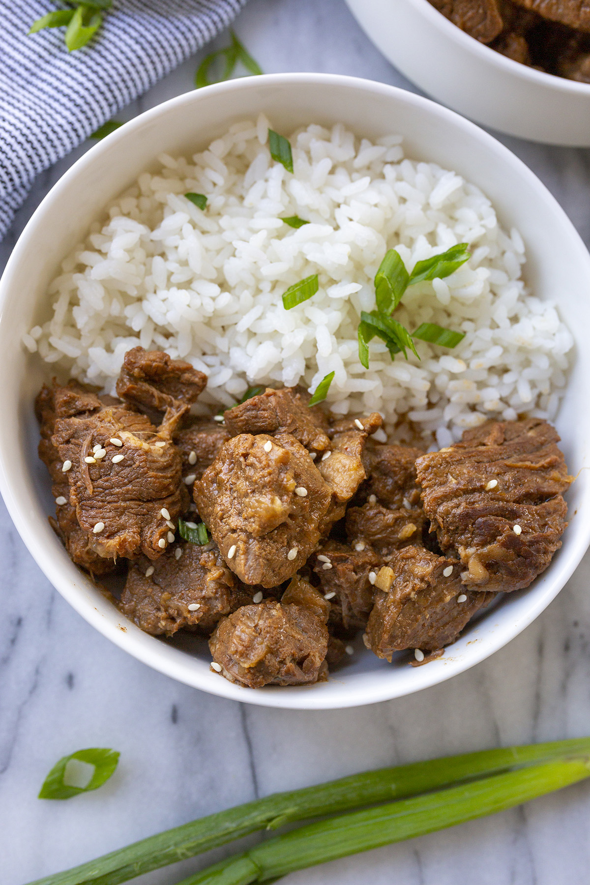 Instant Pot Korean Beef Recipe with white rice