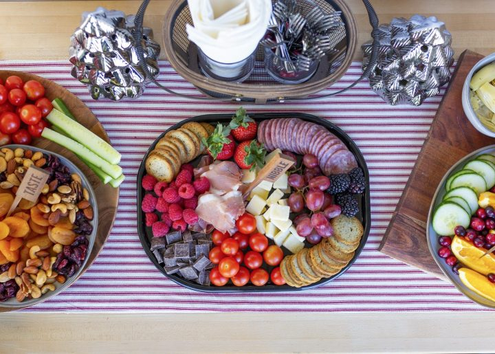 Grazing table, snacking station- so easy to set up