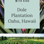Dole Plantation on Oahu Things to do with kids in Hawaii.