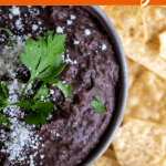 Homemade Black Bean Dip - Easy, Creamy and Healthy!