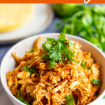 Recipe for how to make chicken tinga for tacos and tostadas