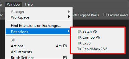 Windows - Extensions menu