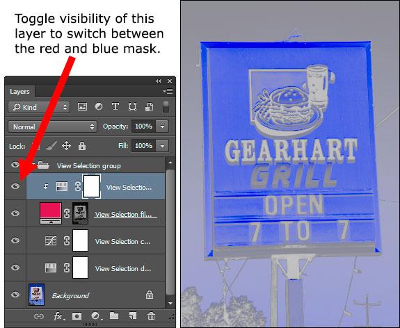 Blue overlay mask