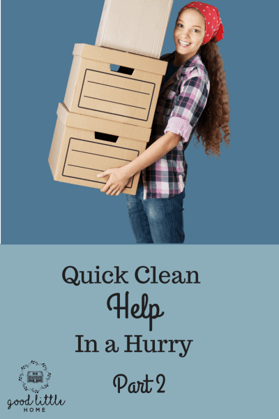 The Quick Clean Plan,  Part 2,  What to do with the Boxes