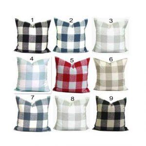 Farmhouse Decor Lovers Gift Guide Buffalo Check Pillows
