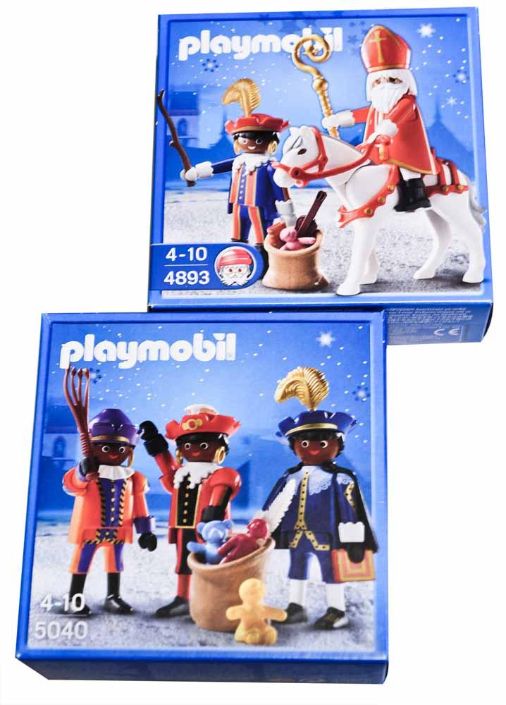 Sinterklaas en zwarte piet playmobildoosjes